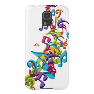 cool colourful music notes & sounds art image galaxy s5 cover