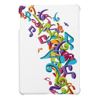 cool colourful music notes & sounds art image iPad mini case