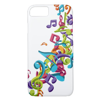 cool colourful music notes & sounds art image iPhone 7 case