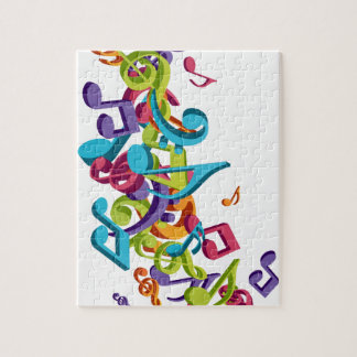 cool colourful music notes & sounds art image jigsaw puzzle