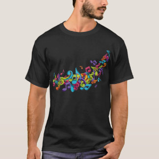 cool colourful music notes & sounds T-Shirt