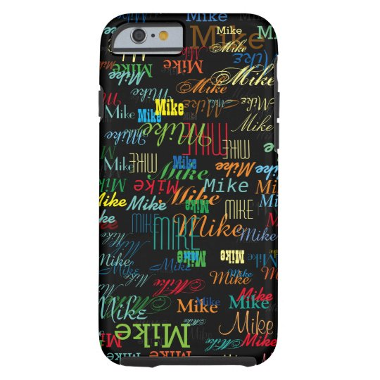 cool colourful name personalised tough iPhone 6 case