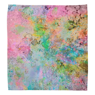 Cool colourful neon colours abstract marble image kerchiefs