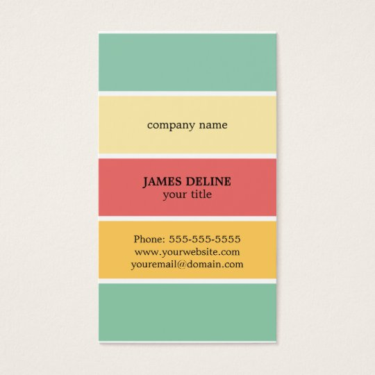 Cool Colourful Striped Professional Painter Business Card
