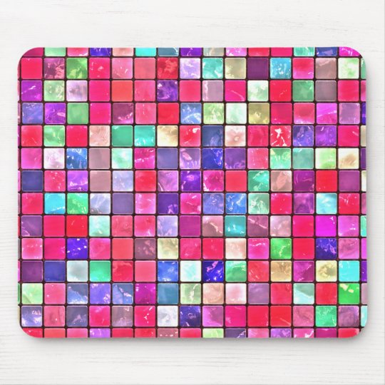 Cool Colourful Tile Pattern Mouse Pad
