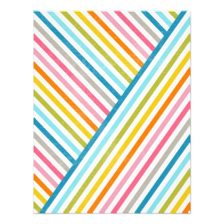 Cool colourful trendy two ways across stripes personalized invitations
