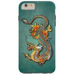 Cool Colourful Vintage Fantasy Fire Dragon Tattoo Tough iPhone 6 Plus Case