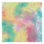 Cool colourful watercolor paint abstract pattern poster