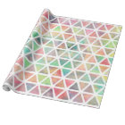 Cool colourful watercolor paint triangles wrapping paper