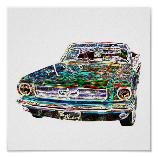 cool colours Car Poster