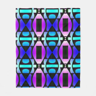Cool Contemporary Pattern Fleece Blanket