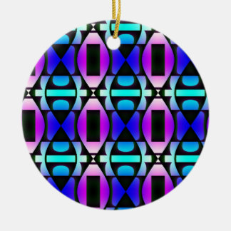 Cool Contemporary Pattern Round Ceramic Decoration