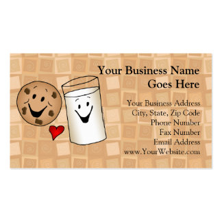 Cool Cookies and Milk Friends Cartoon Business Cards