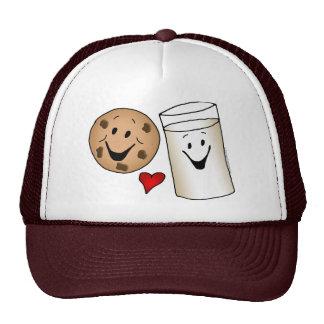 Cool Cookies and Milk Friends Cartoon Cap
