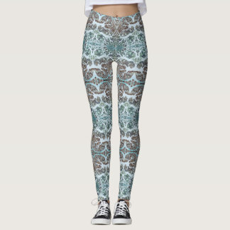 Cool Coral Kaleidoscope Patterned Leggings