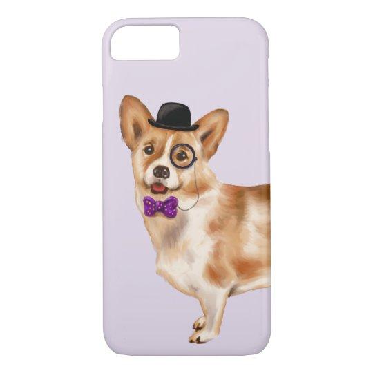 Cool Corgi (Background Colour Editable) iPhone 8/7 Case