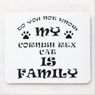 Cool CORNISH REX CAT designs Mouse Pad