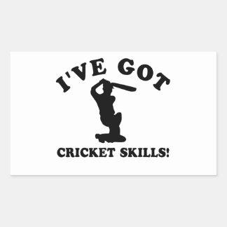 cool cricket designs rectangular sticker