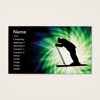 Cool Cross Country Snow Ski Business Card
