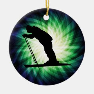 Cool Cross Country Snow Ski Christmas Ornament