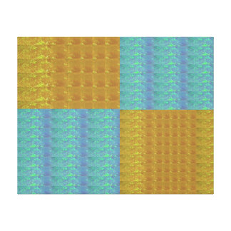 COOL Crystal Shades Tiles Collage Gallery Wrapped Canvas