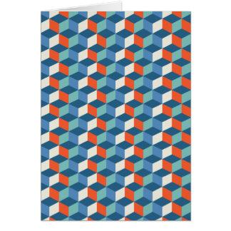 Cool Cubes Op Art Card