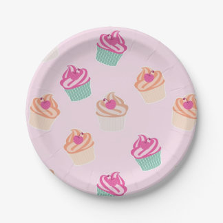 Cool Cupcakes Paper Plate