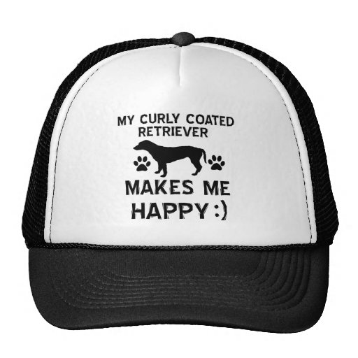 Cool Curly Coated Retriever dog breed designs Hat