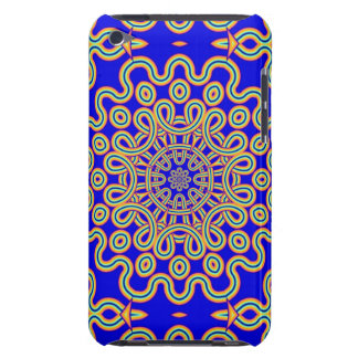Cool Curly pattern on Kings Blue Case-Mate iPod Touch Case