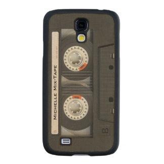 Cool Custom Cassette Tape - Wood Grain Carved® Maple Galaxy S4 Slim Case