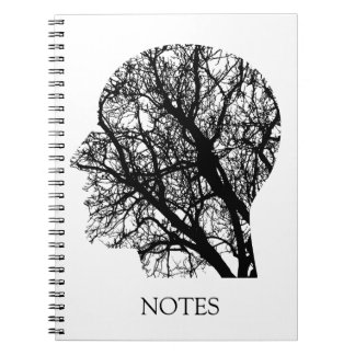 Cool Custom Color Abstract Brain Trees Notebook
