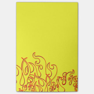 Cool Custom Flames Post-It-Notes Sticky Notes