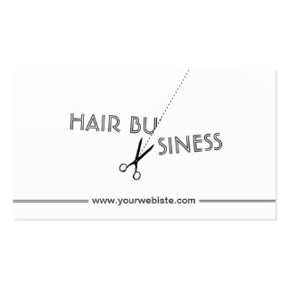 Cool Cut Off Hair Salon Business Cards