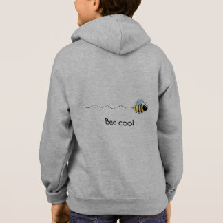 Cool cute bee cartoon name kid's hoodie