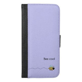 Cool cute bee cartoon pun purple