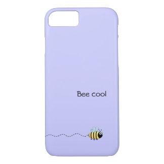 Cool cute bee cartoon pun purple iPhone 7 case