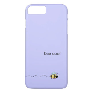Cool cute bee cartoon pun purple iPhone 7 plus case