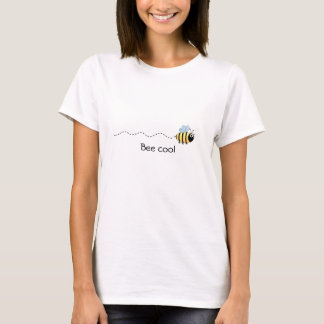 Cool cute bee cartoon woman's shirt