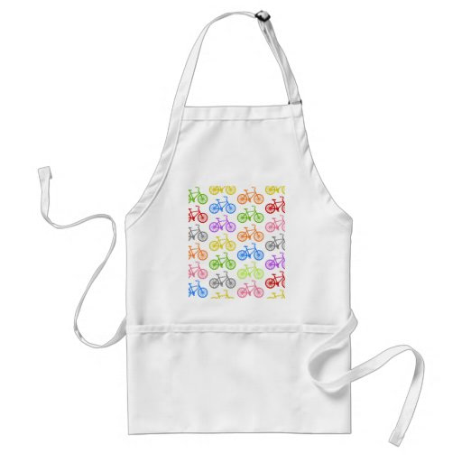 Cool cute bicycle pattern colourful seamless aprons