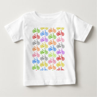 Cool cute bicycle pattern colourful seamless baby T-Shirt