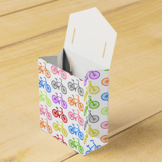 Cool cute bicycle pattern colourful seamless favour box