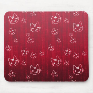Cool cute cat kitty neko japanese cherry red mouse pad