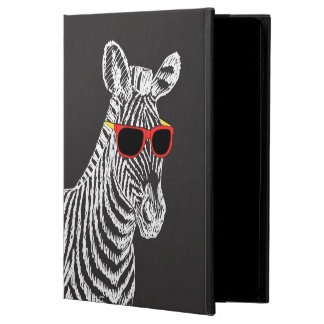 Cool cute funny zebra white sketch with glasses powis iPad air 2 case