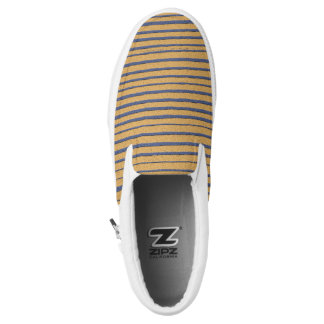 Cool Cute Modern Unique Stripes Slip-On Shoes