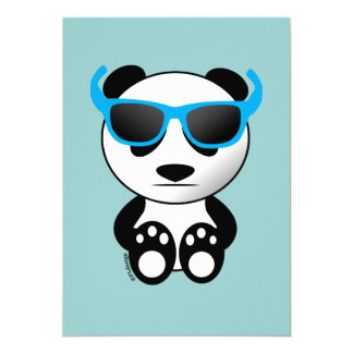 Cool cute panda bear with sunglasses Invitation