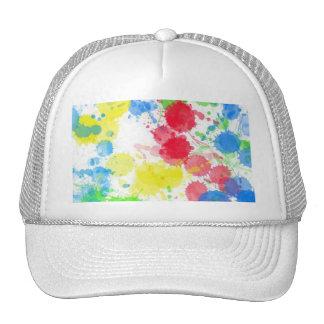 Cool cute trendy colourful splatter watercolours mesh hat