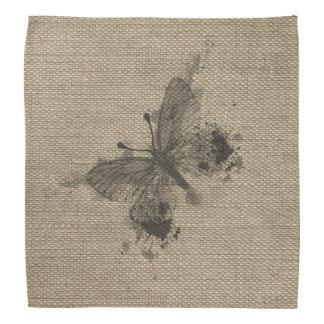 Cool cute trendy grey splatters vintage butterfly bandana