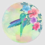Cool cute trendy  watercolours hummingbird floral