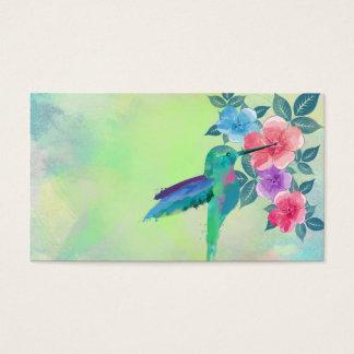 Cool cute vibrant watercolours hummingbird floral