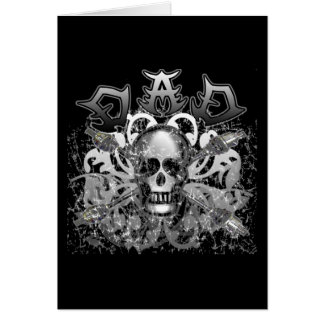 Cool DAD in Heavy Metal Style Tshirts and Gifts Greeting Card